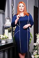 Трикотажное платье Далас большие размеры 50-58
