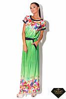 Платье женское длинное микромасло Цветное (норма и батал)
