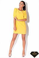 Платье короткое женское прямое Желтое