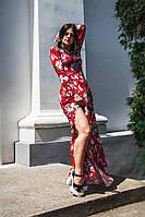 Женское платье в пол с разрезом  3 цвета р. 42,44,46