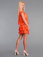 Платье женское с многослойной юбкой Оранж
