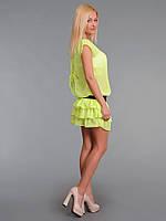 Платье женское с многослойной юбкой Лимон