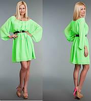 Платье женское Свободное шифоновое Салатовое