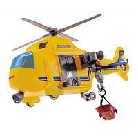 """Игрушечные машинки и техника «Dickie Toys» (3302003) вертолёт """"Служба спасения"""" с лебёдкой, 18 см"""