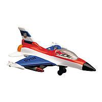 Игрушечные машинки и техника «Dickie Toys» (3553006) военный самолет, 17 см (бело-красно-синий)