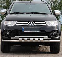 Кенгурятник на Mitsubishi Pajero Sport (c 2008--) Митсубиси Паджеро Спорт