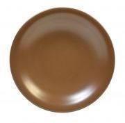 Тарелка 22см глубокая Табако керамика 24242