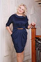 Трикотажное платье  Тереза большие размеры 50-56