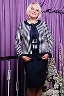 Трикотажное платье  Лера большие размеры 50-56