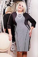 Трикотажное платье  Санта большие размеры 50-56