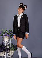 Пиджак школьный для девочки №9 (черный)