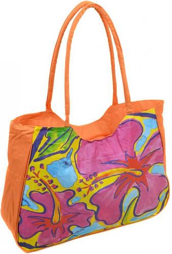 Цветочная оранжевая пляжная сумка Podium 1330 orange