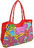 Яркая красная пляжная сумка Podium 1330 red