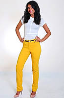 Желтые брюки дудочки