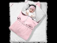"""Одеяло-трансформер """"Ontario Linen"""" Classic КОТЕНОК (85*90 см, цвет - розовый / бязь, силикон 300 / вышивка  (Скидка на доставку Новой почтой - 25%)"""