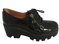 Модные осенние кожаные туфли