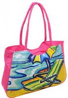 Розовая легкая пляжная сумка Podium 1328 pink