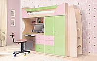 Детская мебель Комби фисташка/розовый (Світ Меблів ТМ)