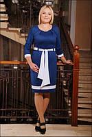 Трикотажное платье Триса большие размеры 50-56