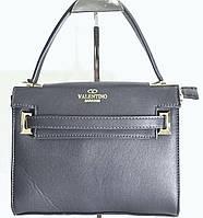 Брендовая маленькая женская сумка Valentino Валентино черная