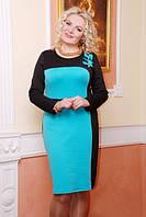 Трикотажное платье  Зося большие размеры 50-56