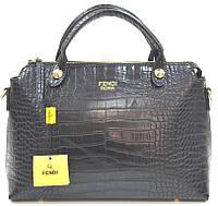 Брендовая женская сумка Fendi Фенди черная