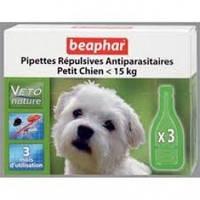Bio spot on Beaphar БИО КАПЛИ против блох и клещей для собак до 15 кг