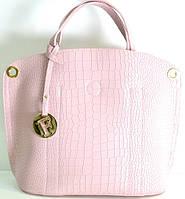 Брендовая женская сумка Fendi Фенди розовая