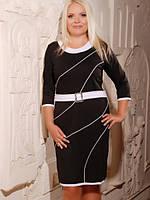 Трикотажное платье  Ида большие размеры 50-56