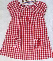 Блуза в красно-белую клетку для девочки