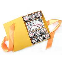 Новогодний шоколадный подарок любимым. Шоколадный набор конфет с пожеланиями в Новом Году