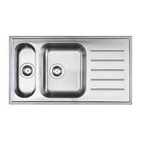Мойка для кухни нержавейка Икеа - Ikea  2-я 50х90х18 полированная