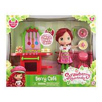 Набор Шарлотта Земляничка Земляничное кафе (кукла 15 см с ароматом, мебель с аксессуарами Strawberry Shortcake