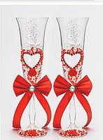 Свадебные  бокалы, красные