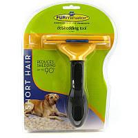 Фурминатор для маленьких собак с длинной шерстью FURminator Long Hair Small Dog deShedding 4,5см c кнопкой
