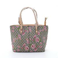 Качественная женская сумка бежевого цвета