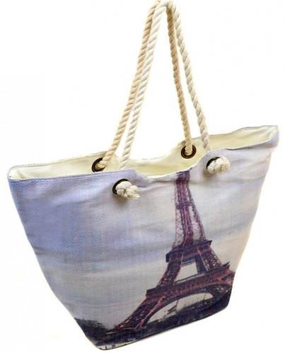 Пляжная сумка с принтом Эйфелевой башни Podium PC 9140-1 grey, серый