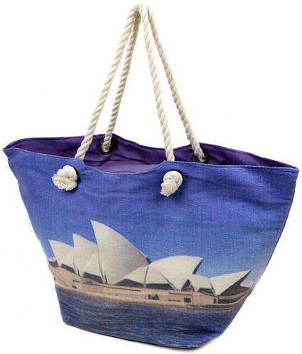 Морская пляжная сумка на молнии Podium PC 9140-1 blue, синий