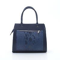 Качественная женская сумка Elit мат синяя/змея из искусственной кожи