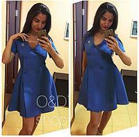 Платье летнее Chanel на запах с пуговицами мини разные цвета SMc485