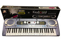 Детский синтезатор пианино MQ 020FM, микрофон, запись, радио, сеть/батарейки