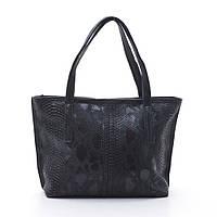 Качественная женская сумка Elit питон черного цвета из искусственной кожи