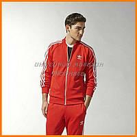 Красный костюм адидас мужской | Костюм мужской трикотажный