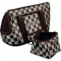 Trixie Chess Carrier cумка-переноска для собак с дорожной миской
