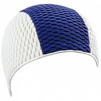 Мужская шапочка для плавания BECO белый/голубой 7331 16