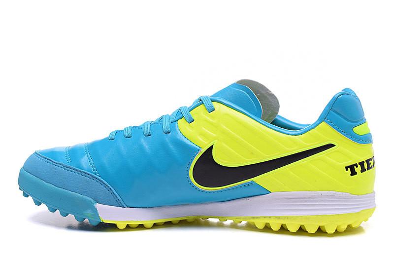 Футбольные сороконожки Nike Tiempo Mystic V TF Clear Jade/Black/Volt