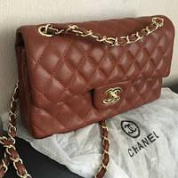 "Сумка ""Chanel mini"" lux копия коричневая"