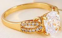 Кольцо позолота с цирконами Амели (GF167) размер 17
