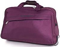 Фиолетовая дорожная сумка на 2-х колесах WUCAIMAO DS619-7, 60 л.
