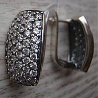 Фантастические серебряные серьги с невероятным количеством камней
